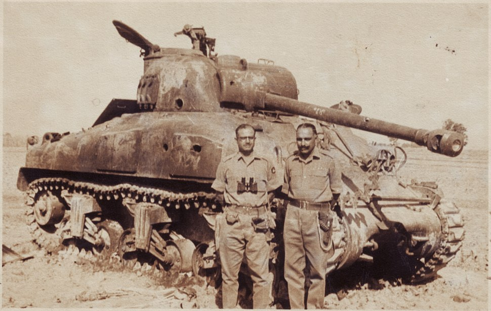 1965 Indo-Pak War DestroyedShermanTank
