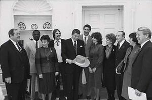 1981 Clemson Tigers football team - A few Tigers visited the Oval Office in January 1982