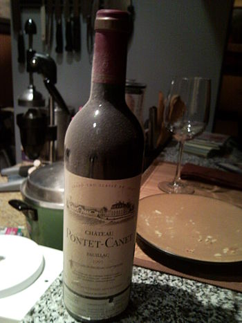 French wine from the left bank Bordeaux wine r...