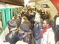1 Marche républicaine 11 janvier 2015 Paris - Foule des manifestants quai station métro Mirosmenil AB P1340192.jpg