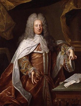 Henry St John, 1st Viscount Bolingbroke - Henry St John, 1st Viscount Bolingbroke. Attributed to Alexis Simon Belle, c. 1712. (NPG 593 at the National Portrait Gallery, London).