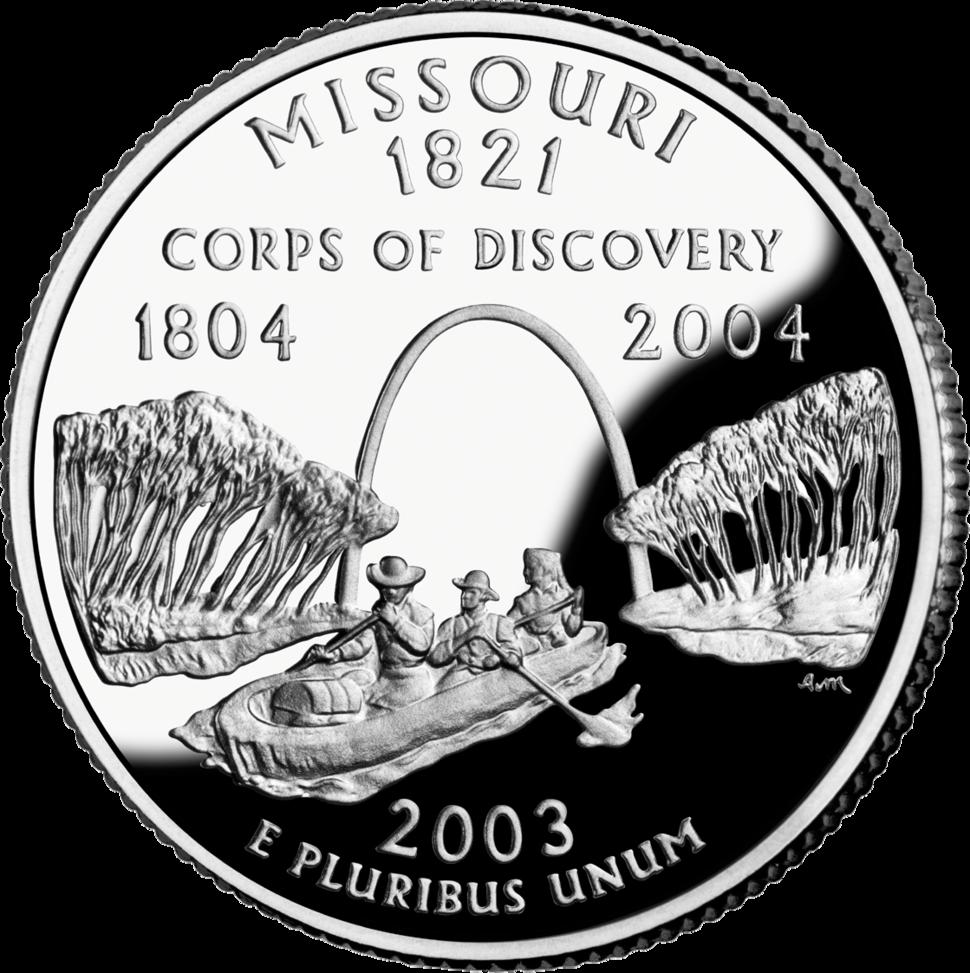 Missouri quarter dollar coin