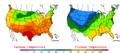 2005-09-26 Color Max-min Temperature Map NOAA.png