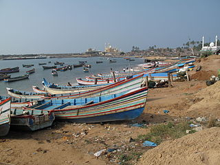 Vizhinjam Suburb in Thiruvananthapuram, Kerala, India