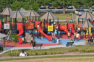"""Mount Trashmore Park - The """"new"""" Kids' Cove playground opened in 2010"""
