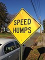 2014-12-27 10 01 33 Speed Humps sign along Glen Mawr Drive in Ewing, New Jersey.JPG