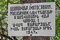 2014 Prowincja Tawusz, Klasztor Matosawank, Tablica informacyjna.jpg