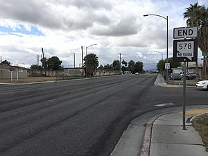 Nevada State Route 578 - View at the west end of SR 578 looking westbound