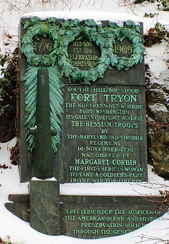 Margaret Corbin Monument - Image: 2015 Fort Tryon Park Margaret Corbin memorial