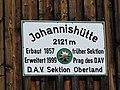 2017-07-15 (103) Sign of Johannishütte in Prägraten am Großvenediger, Austria.jpg