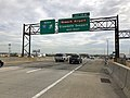 2018-06-20 09 06 04 View north along Interstate 95 (New Jersey Turnpike) just south of Exit 13A (Newark Airport, Elizabeth Seaport) in Elizabeth, Union County, New Jersey.jpg