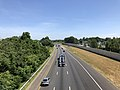 2019-06-24 11 09 10 View north along the northbound lanes of Interstate 95 and U.S. Route 17 from the overpass for Cowan Boulevard in Fredericksburg, Virginia.jpg
