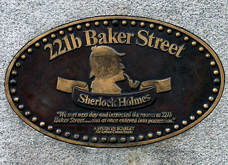 221B Baker Street - The plaque on the former Abbey House HQ
