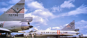 325th Fighter-Interceptor Squadron - Two 325th Fighter-Interceptor Squadron Convair F-102s in 1960