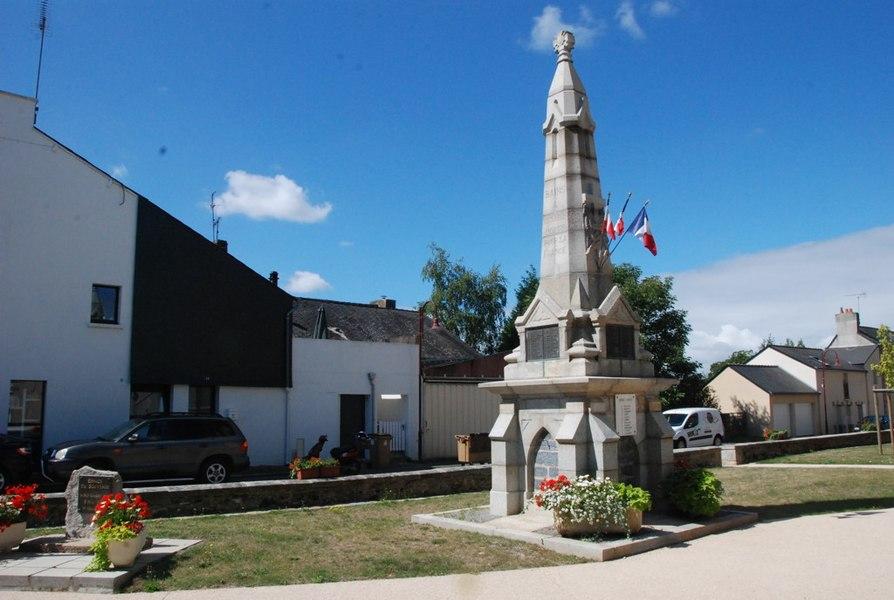 Monument aux morts de Bains-sur-Oust (35)