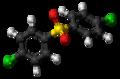 4,4'-Dichlorodiphenyl sulfone molecule ball.png