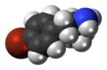 4-Bromoamphetamine molecule spacefill.png