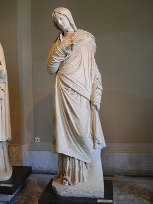 Pudicitia - Statue of a woman, perhaps the empress Vibia Sabina, dressed as Pudicitia