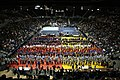 46th NYSPHSAA Wrestling Championships at Blue Cross Arena, singing of the national anthem, 8 Mar 2008.jpg