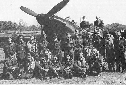 Hurricane night fighter pilots of 486 squadron at Wittering in 1942 486 Squadron RNZAF Wittering 1942.JPG