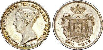 Maria II of Portugal - Effigy of Maria II, 1849