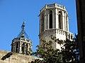 61 Campanars de la Catedral, des del c. Montjuïc del Bisbe.JPG