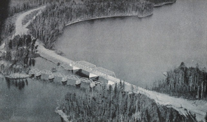 Ontario Highway 72 - The Frog Rapids Narrows Bridge shortly after completion in 1938