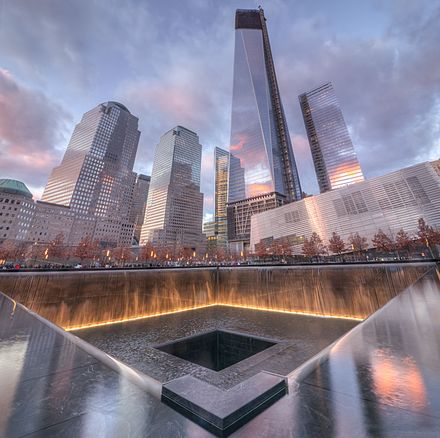 National September 11 Memorial & Museum in New York City 9-11 Memorial South Pool.jpg