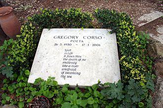 Gregory Corso - Corso's grave, in Rome (Italy)