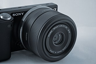 Sigma Corporation - Sony NEX-5 with Sigma 30mm F2.8 EX DN lens.