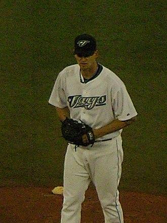 A. J. Burnett - Burnett pitching for the Blue Jays in 2008.