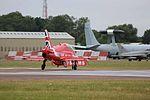 A81A8317 RAF Red Arrow HS Hawk T1 (20064723306).jpg