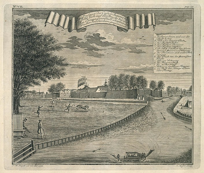 File:AMH-7021-KB View of Batavia castle from the bridge near the Company stables.jpg