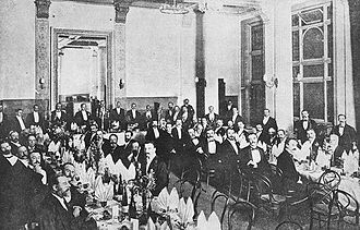 Australian Natives' Association - An Australian Natives' Association banquet held in 1901 to honour Prime Minister Edmund Barton, following his return from the United Kingdom.
