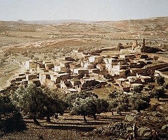 Al-Eizariya - Colorized picture of Al-Eizariya, taken by Félix Bonfils, ca 1890