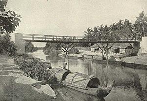 Travancore - Canal scene, Travancore