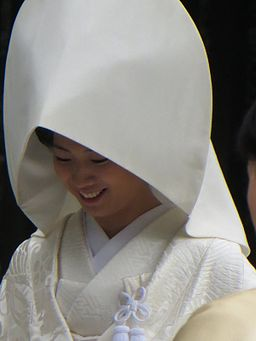 A bride on her wedding day at Meiji Shrine, Tokyo, Japan