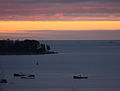 A dark sunrise over Mount Desert Island, Maine.jpg