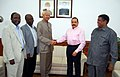 A delegation from the Republic of Tanzania led by the Minister for Labour & Public ServicesPersonnel & Training, Mr. Haroun Ali Suleiman calling on the Minister of State for Development of North Eastern Region (IC).jpg