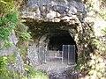 A fenced off Adit No.7, Lochaline Sand Mine - geograph.org.uk - 3183013.jpg