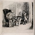 A gouty patient consulting his physician. Etching after E.A. Wellcome V0016078.jpg