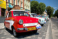 A line of Mikrus MR-300 cars during Mielec old cars fest.jpg