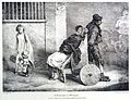 A paralytic woman being transported along the street in a wh Wellcome L0030354.jpg