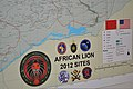 A photo of one of the maps created by the National Geospatial-Intelligence Agency for African Lion 2012 is shown in Agadir, Morocco, April 15, 2012 120415-D-ZZ999-026.jpg