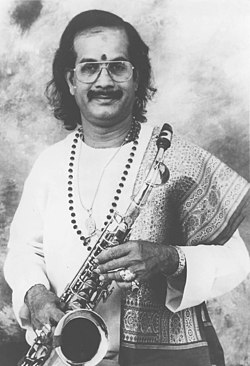 A still of Shri Kadri Gopalnath who will be presented with the Sangeet Natak Akademi Award for Carnatic Music - Instrumental (Saxaphone) by the President Dr. A.P.J Abdul Kalam in New Delhi on October 26, 2004.jpg