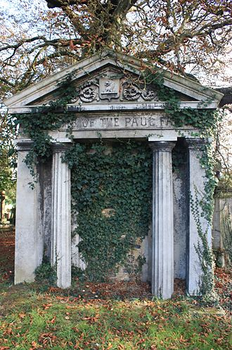 Kensal Green Cemetery - A typical mausoleum