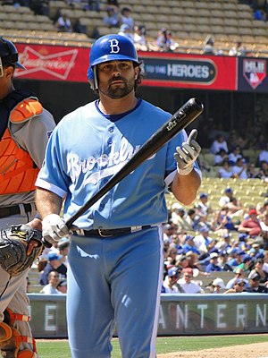 Throwback uniform - Aaron Miles in a throwback Los Angeles Dodgers uniform