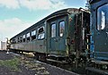 Abandoned SNCB B22490 type-K3 carriage in As, Belgium (DSCF3127-hdr).jpg