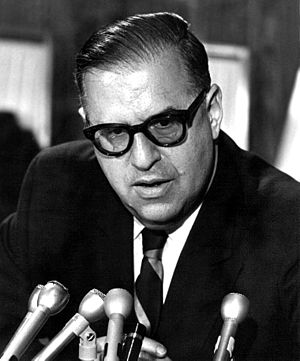 History of the Jews in South Africa - Abba Eban, born in Cape Town, was Foreign Minister of Israel from 1966 to 1974.