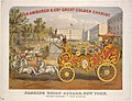 Above- Van Amburgh & Co's Great Golden Chariot. Below- Passing Union Square, New York. Weight 6000 lbs.-Cost $7000.00 (NYPL Hades-1803527-1659250).jpg